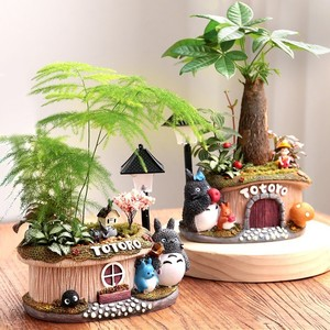 Image 5 - 1pcs Fortune tree flower pot With Light Small Bonsai Bamboo Plant Indoor Purification Air Plant Micro Landscape Desktop Ornament