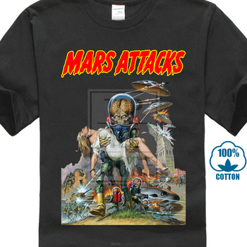 Mars Aanval V16 Movie Poster T-shirt Wit Alle Maten S Tot 4Xl