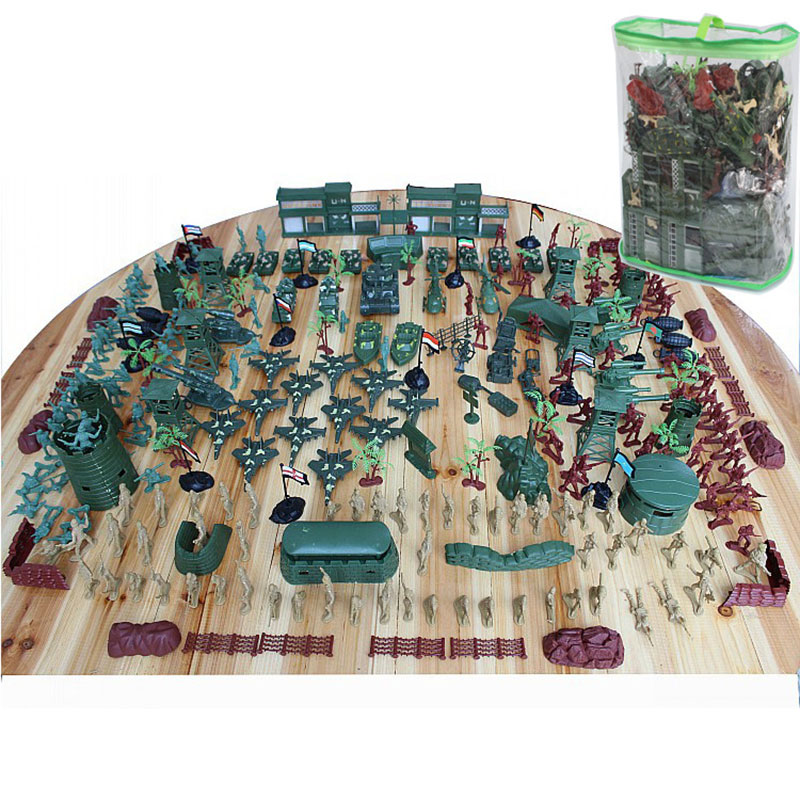 310Pcs World WarII Military Plastic Soldier Army Men Figures & Accessories Playset Soldier Model Sandbox Game Model Toy For Kids