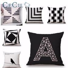 Геометрическая Подушка искусственная квадратная подушка с буквами