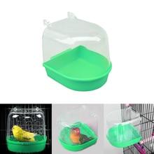 1 шт попугай птица вода Ванна коробка Ванна попугай принадлежности для купания птица ванна душ стоящая корзина для мытья место клетка для птиц товары для домашних животных