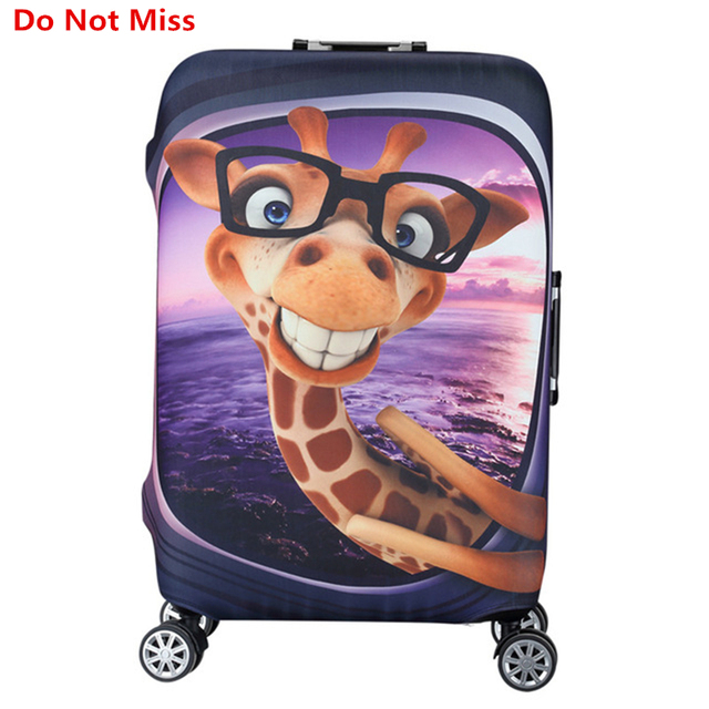 Do Not Miss New travel luggage Cover Trolley case Elasticity Dust cover Cartoon pattern suitcase protective case Trunk Cover