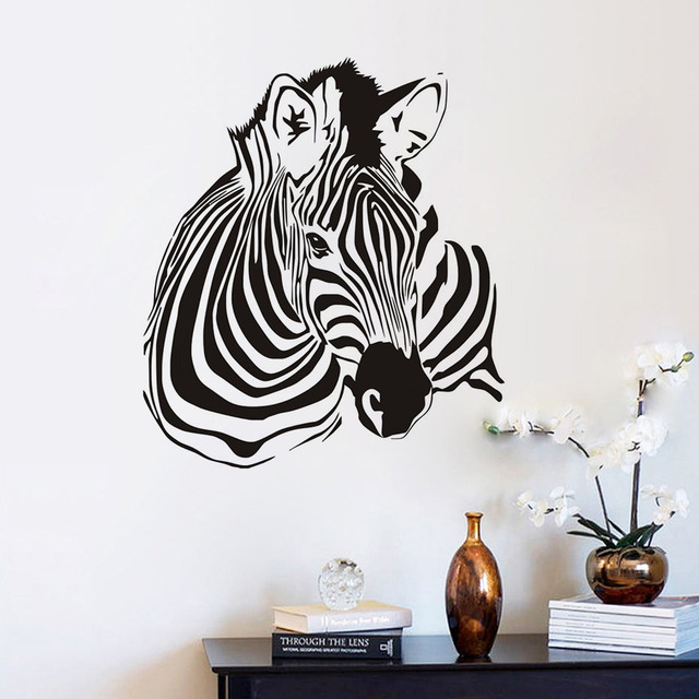 Zebra Wall Stickers For Kids Rooms Wall Decor Removable Waterproof Animal  Wall Art Decals Wallpaper Home