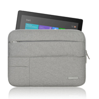 Tablet Sleeve Case Bag For Microsoft Surface Pro 3 Solid Waterproof Carry Case Larger Capacity Women