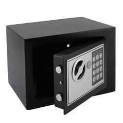 صندوق الأمان الإلكتروني الصلب الصلب مع قفل لوحة المفاتيح الرقمية 4.6L صندوق تخزين المجوهرات صغير قابل للقفل صندوق تخزين النقود الآمنة