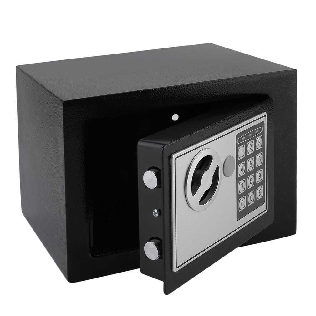 Caja de Seguridad Electrónica de acero sólido con bloqueo de teclado Digital 4.6L Mini caja de almacenamiento de joyas con cerradura caja de almacenamiento de dinero seguro