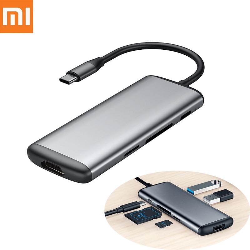 D'origine Xiaomi mijia Hagibis 6 dans 1 Type-c à HDMI USB 3.0 TF SD Lecteur de Carte PD De Charge adaptateur HUB pour l'iphone Mobile Téléphone
