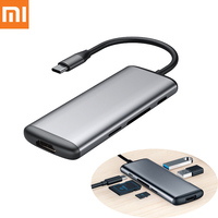 Original Xiaomi mijia Hagibis 6 in 1 Type c to HDMI USB 3.0 TF SD Card Reader PD Charging Adapter HUB for iPhone Mobile Phone