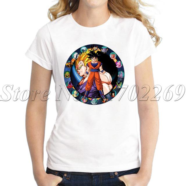 Dragon Ball Z Vegeta Mightiest Fusion Anime Fashion Women's T-Shirt