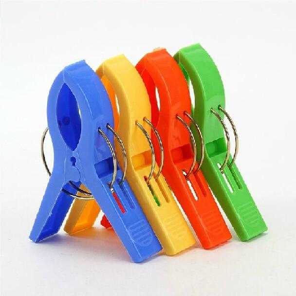 Retail Home solid color clothes clip plastic clip clothespin pegs racks 4pcs/set