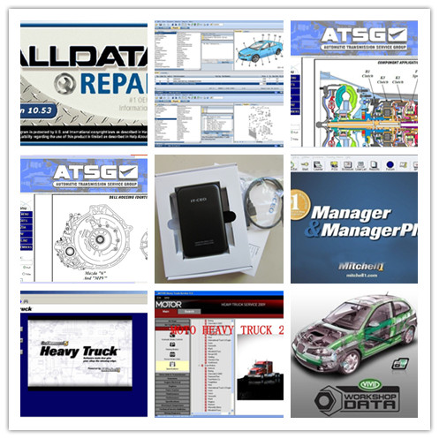Alldata программного обеспечения v10.53 и Митчелл по требованию + Vivid + ATSG + Moto тяжелый грузовик 49in1 жесткий диск 1 ТБ все данных Авто Ремонт