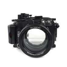 מקרה צלילה מתחת למים מצלמה שיכון Meikon Canon G7X Mark II WP DC54 G7X 2