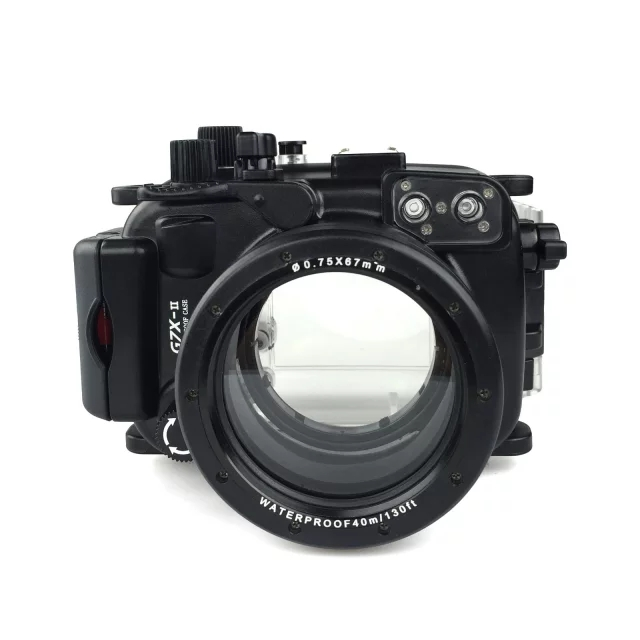 Meikon Waterproof Underwater Housing Camera Diving Case for Canon G7X Mark II WP-DC54 G7X-2 meikon underwater diving camera waterproof housing case for canon g15 as wp dc48