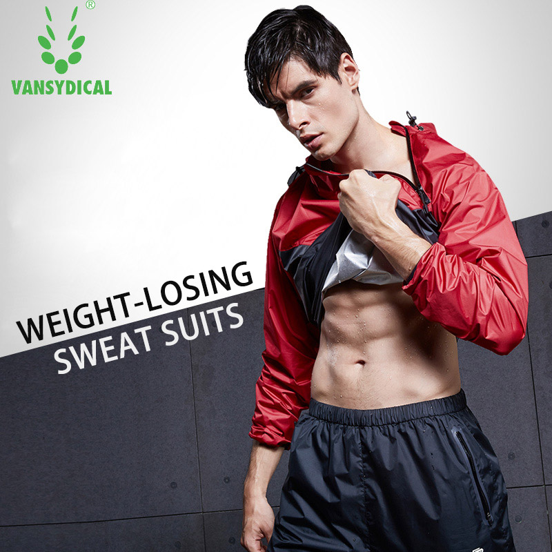 2018 VANSYDICAL Men Sports Running Suits Sweat Suit Lose Weight Sportswear Women Yoga Sets Gym Cloth Fitness Training TrackSuits ...