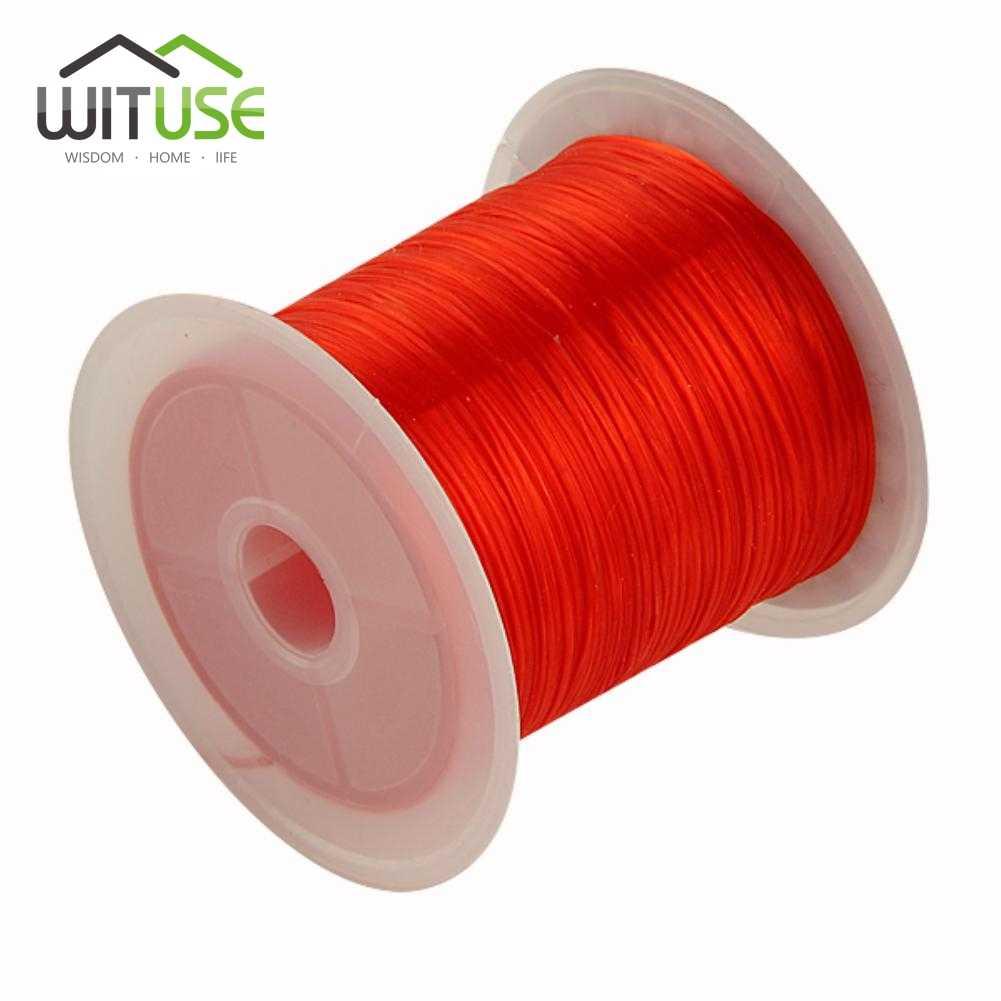 黒、赤、白 1 ロール 10 メートルの長さ 0.25 ミリメートル直径クリスタル弾性ビーズコード文字列 diy ネックレスブレスレット