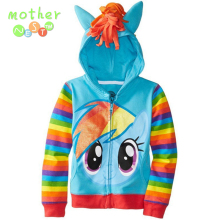 2017 NEW 1PCS pony Kids Girls and boys jacket Children's Coat Cute Girls Coat, hoodies, girls Cotton Jacket children clothing