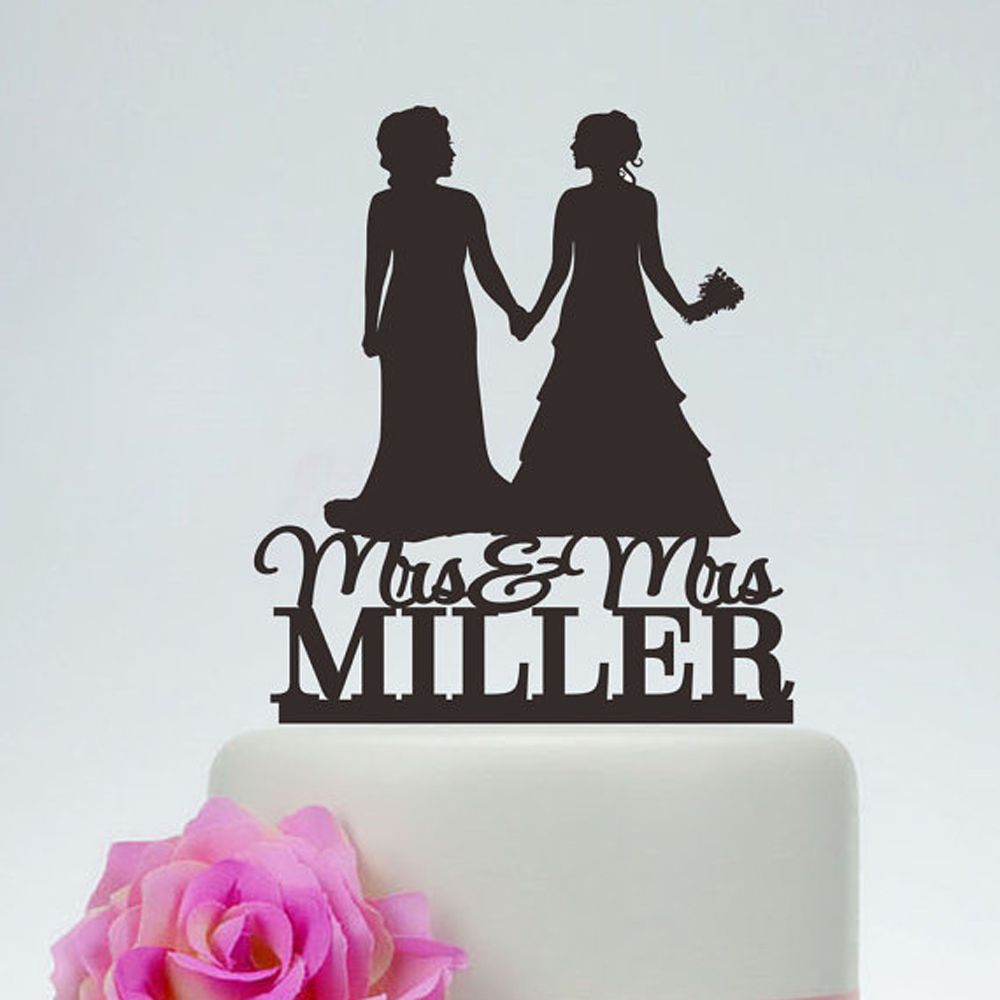 Batman Personalised Rose Gold Mirror Wedding Cake Topper.527 Mr and Mrs