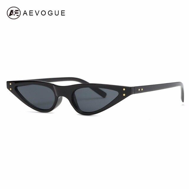 708e9fe3fc5c4 AEVOGUE Óculos De Sol Mulheres Olho de Gato Sexy Pequeno Triângulo óculos  de Sol Lente da