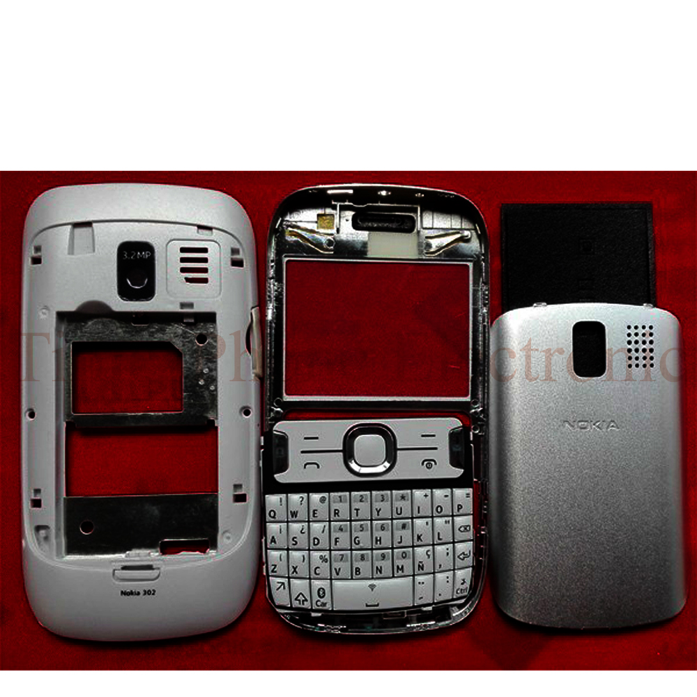 the best attitude e9889 ea33c US $8.09 19% OFF|New Phone Full Housing Cover Case For Nokia Asha 302  Houisng With Keypads Black/White/Red Color-in Mobile Phone Housings &  Frames ...