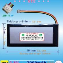 [V102] 3,8 V 7000 mAh [8448104] NTC; ZH1.5 3 P; три 3 провода; полимерная литий-ионная аккумуляторная батарея для Нетбуки, электронных книг; планшетный ПК, GPD WIN