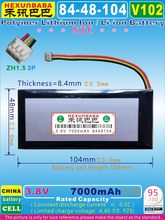 [V102] 3.8V 7000mAh [8448104] NTC;ZH1.5 3P;THREE 3 WIRE;Polymer Li-ion battery for Netbook,EBOOK;tablet pc,GPD WIN(China)