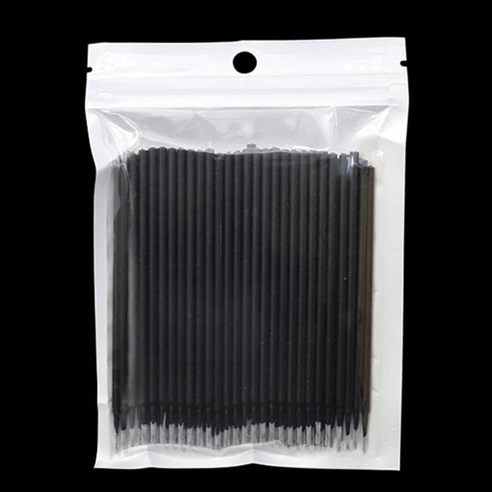 100 Pcs/lot Clean Disposable Sanitary Makeup Tool PVC Extension Applicator Cosmetic Women Girls Micro Non-linting Eyelash Brush