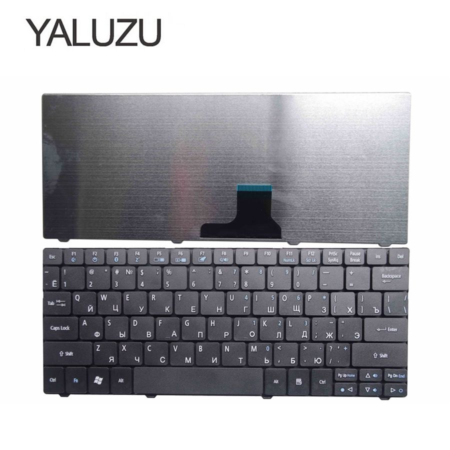 YALUZU New Russian Laptop Keyboard For ACER Aspire One 751 751H ZA3 ZA5 715 752 753 753H 722 721 1410 1810T 1810TZ 1830T RU