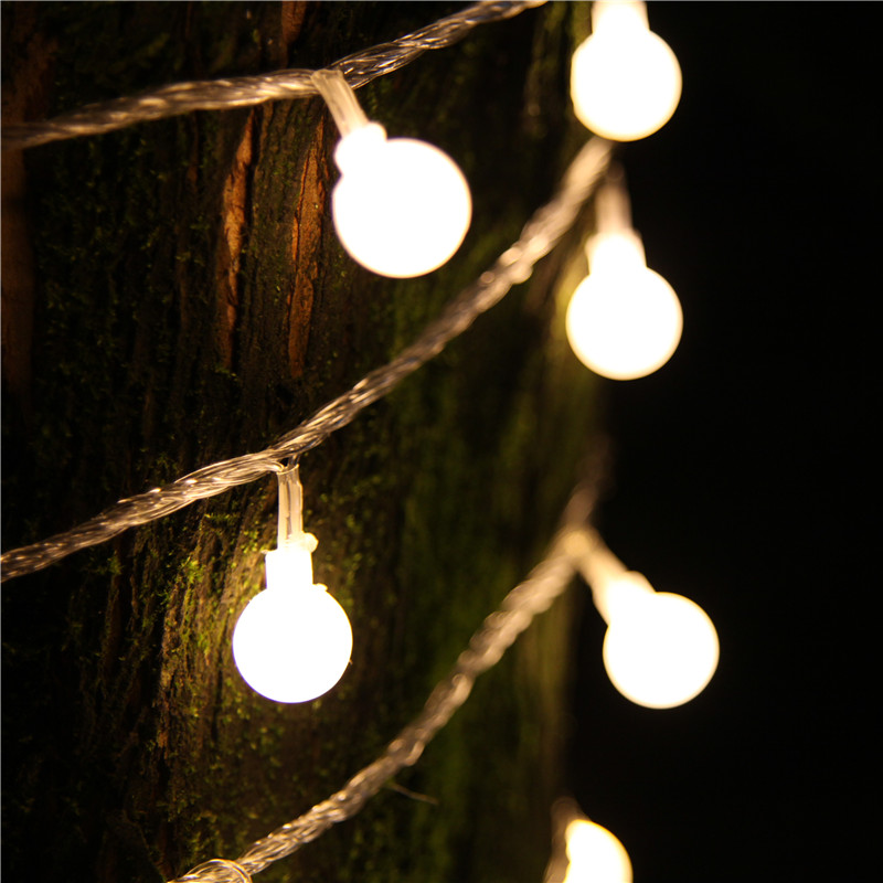 10M led string light 100led ball AC220V EU plug holiday wedding patio decoration lamp Festival Christmas lights outdoor lighting