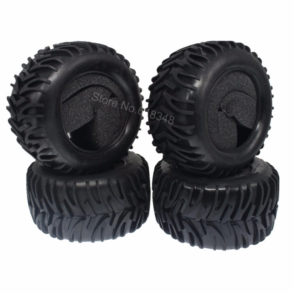US $16 5 35% OFF|4Pcs RC 1:10th Monster Truck Tires With Foam Inserts  OD:120mm ID:71mm Width:60mm For Redcat Racing HSP Exceed Off Road Baja  Tyre-in