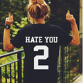 HATE YOU 2 TEE Shirt Tshirt Top Unisex Men Women Unisex Fashion T Shirt Rock Clothing-for-couples Lovers Big Size Women Clothing