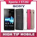 "Abierto original sony xperia j st26i st26 teléfono celular gps wifi 5mp 4.0 ""tft pantalla táctil capacitiva android os reformado"