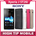 "Original Unlocked ST26 Sony Xperia J ST26i Cell phone GPS Wi-Fi 5MP 4.0"" TFT Capacitive Touchscreen Android OS Refurbished"