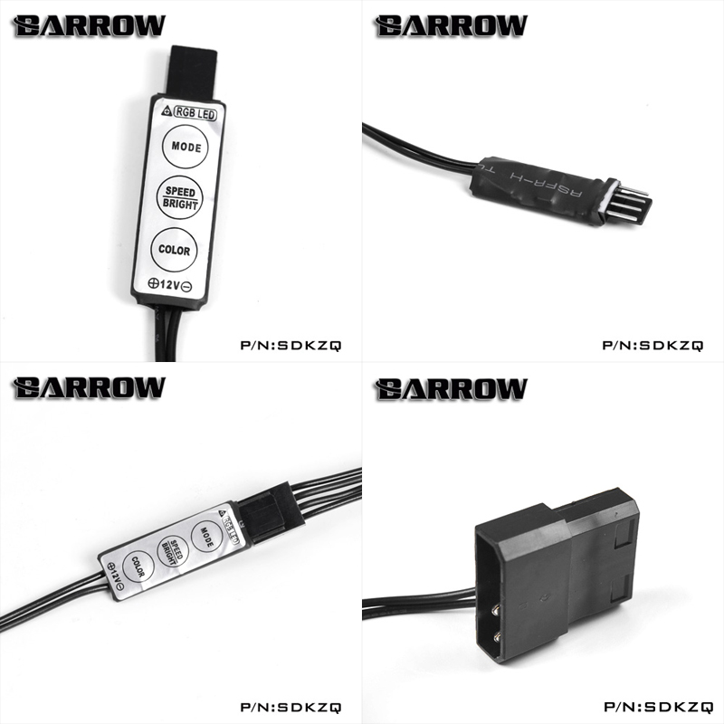 US $93 0 |BARROW Full Cover Graphics Card Block use for GIGABYTE  GTX1080/1070 G1 GAMING/ GV N1080WF2 GPU Radiator LRC RGB BS GIG1080 PA-in  Fans &