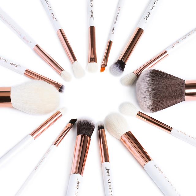 Natural Hair Makeup Brushes Set