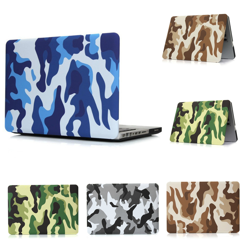 Cool Camouflage Series Matte Hard Case for Apple MacBook Air Pro 11 12 13 15 Inch Laptop Bag for Mac book Air 13 Laptop Cover