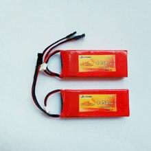 Flytown batería LiFePO4 LiFe RX de 1450mAh, 6,6 V, 20C, receptor de batería con enchufe negro JR y conectores Futaba