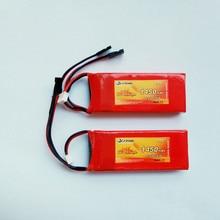 Flytown bateria receptora de bateria rx, bateria de 1450mah 6.6v 20c lifepo4 com plug jr preto e conectores futaba