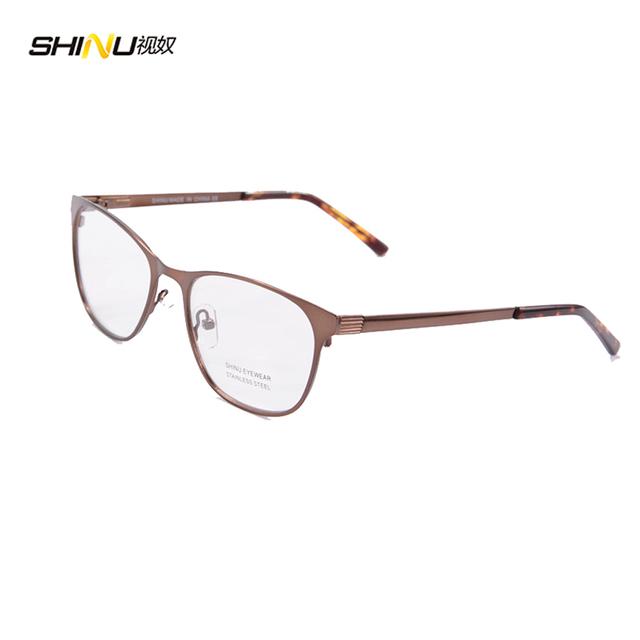 Quadros novos óculos homens moldura de aço inoxidável com pintura de borracha extensível quadro espetáculo oculos de grau 1441