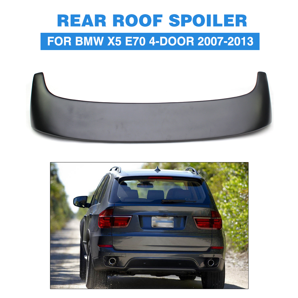 Car Rear Roof Spoiler Lip Wing for BMW X5 E70 4-Door 2007-2013 back Window Spoiler FRP Unpainted black primer Car Styling image