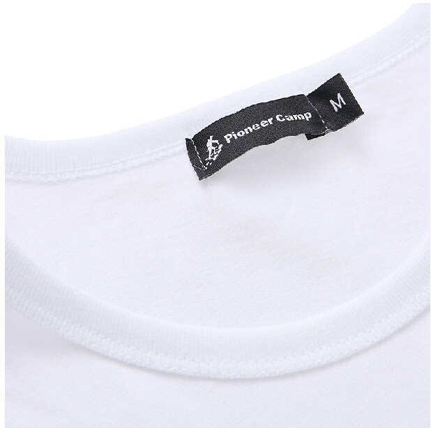 パイオニアキャンプ 2 パック促進 Tシャツ男性ブランドの服半袖ソリッド tシャツ男性カジュアル tシャツファッションメンズ