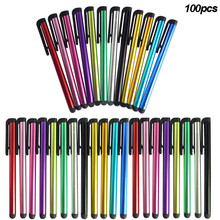 100 Pcs/one color  Universal Stylus Pen for Touch Screen For Samsung Tablet PC Tab iPad iPhone QJY99