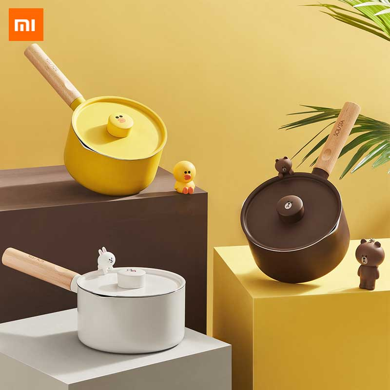 Xiaomi Youpin Mini Milk Pans Christmas Gift Chocolate Milk Soup No-Stick Cooking Pot General Use For Gas & Induction Cooker