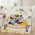 ¡ Promoción! Mickey de la historieta Del Gatito del bebé juego de cama cuna de algodón 100% edredón bebé bab edredón, 150*120 cm