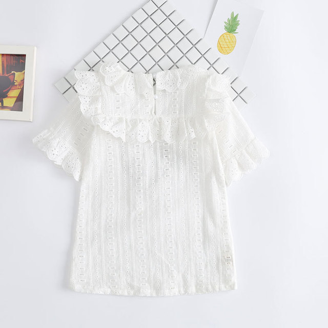 f9486fb2740 Cotton Lace Girl Dress Kids 2017 Summer New Embroidered Children Clothes  White Lace Princess Korean Cute