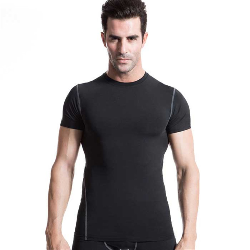 Men Pro Quick Dry Workout Gymming Long Top Tee Sporting Runs Yogaing Compress Fitness Exercise T-shirts Clothing T Shirt 1003
