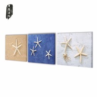 Canvas Painting Frameless Art Landscape Starfish on Beach Canvas Art Home Decoration Modular Picture for Living Room 3 Panels