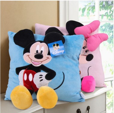 35cm Mickey and Minnie Mouse Plush Toy Pillow Room Decoration for Childrens Gift