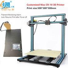 2017 большой Размеры пользовательского уровня 3D-принтер creality CR-10S двойной ведущих Винты штанга DIY 3D-принтеры комплект с поставками сигнализации