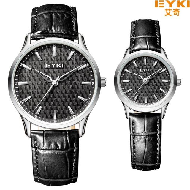 Eyki couro mulheres pulseira de couro relógios oco pointer quartz relógio de pulso à prova d' água business casual relógios relógio reloj mujer