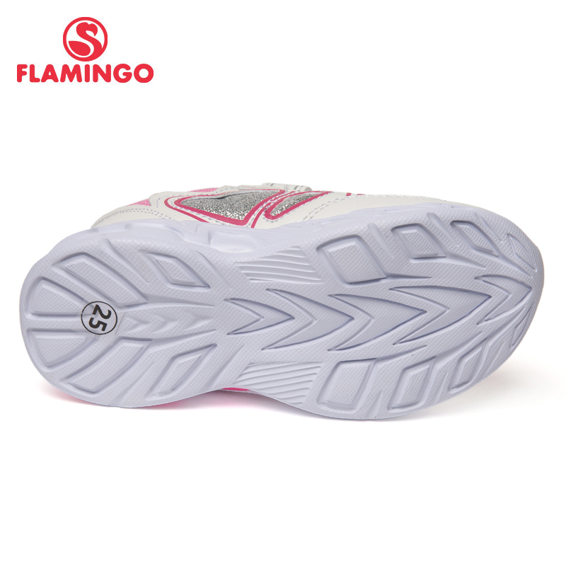 QWEST Brand LED Leather Insoles Breathable Arch Children Sport Shoes Hook& Loop Size 23 29 Kids Sneaker for Girl 91K KS 1232 - 3